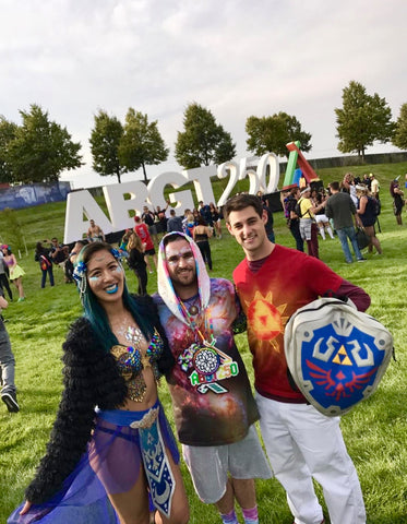 ravers in festival outfits at Above and Beyond Therapy 250