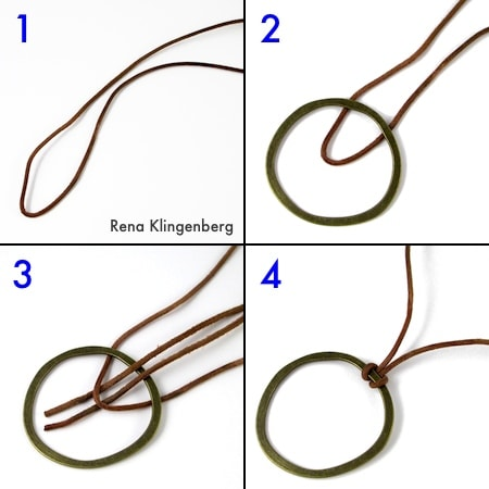 Lark's Head Knot step by step instructions