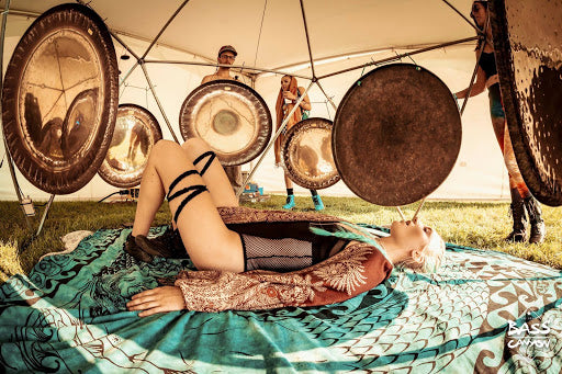 Yoga Session During Bass Canyon