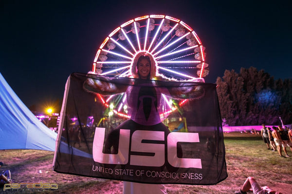 Paradiso Festival Ferris Wheel and USC Events Flag