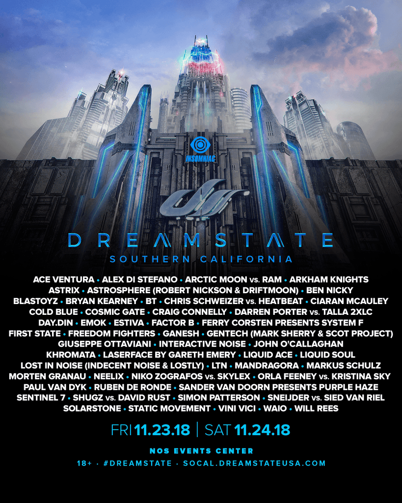 Dreamstate 2018 Lineup