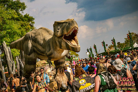 giant t-rex at Lost Lands