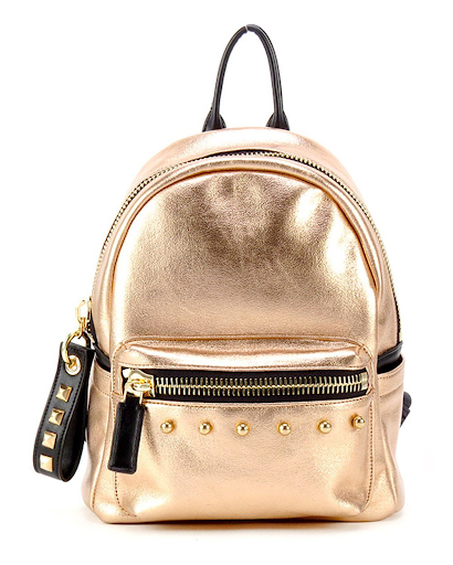 Gold Mini Backpack