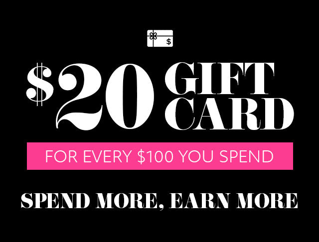 20 gift card for every 100