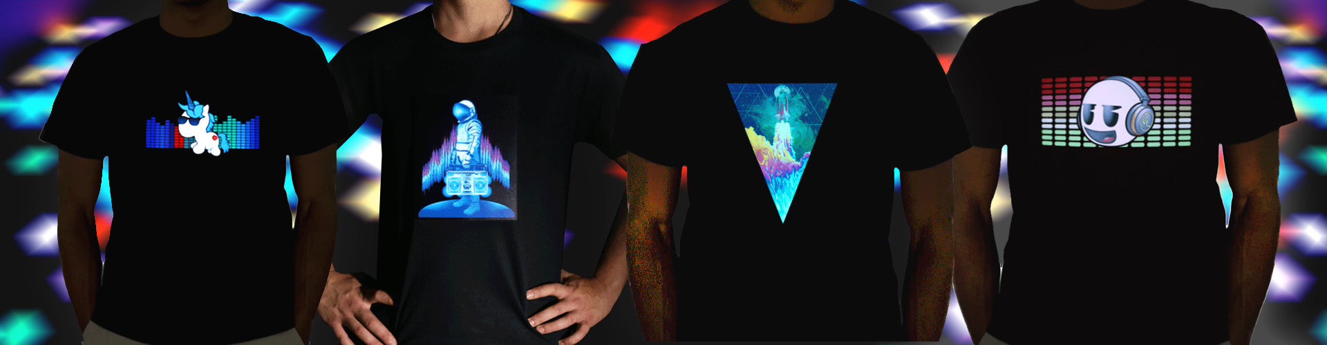 sound activated light up LED shirts