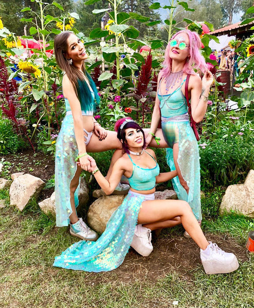 Green Sequin Mermaid Outfits