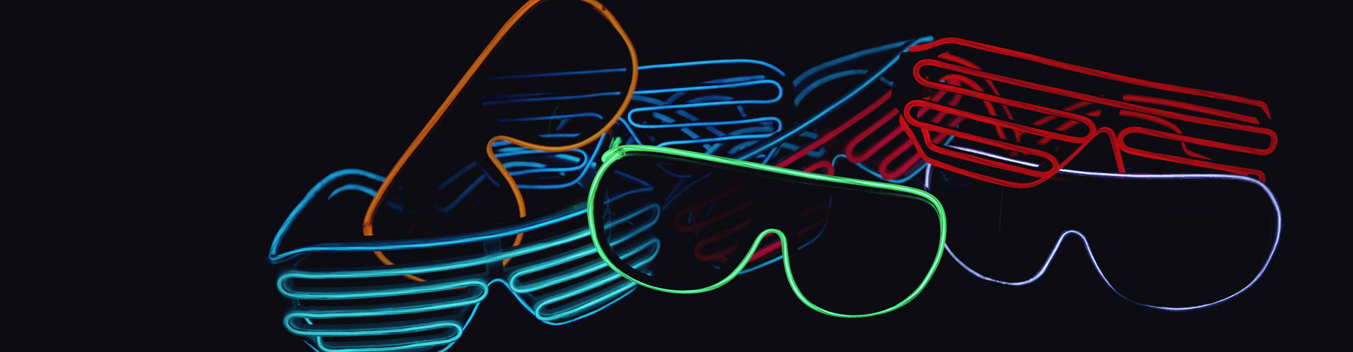 super bright LED glasses for raves