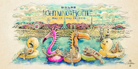 lightning in a bottle cartoon logo