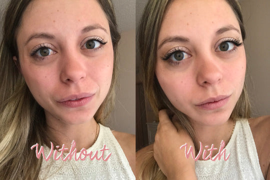 5bd214f2fbe rave girl testing magnetic lashes. Above: Me without One Two Lash ...