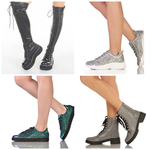 comfortable sleek and sparkly shoes for festivals