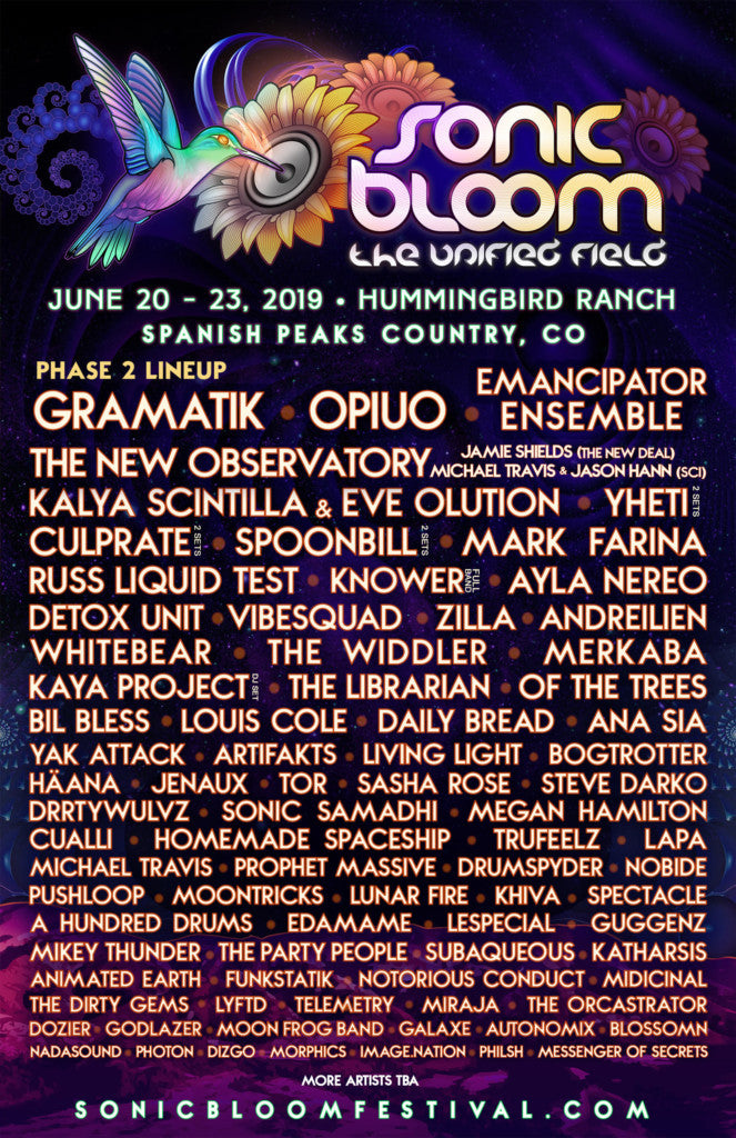 Sonic Bloom Phase 2 2018 Lineup