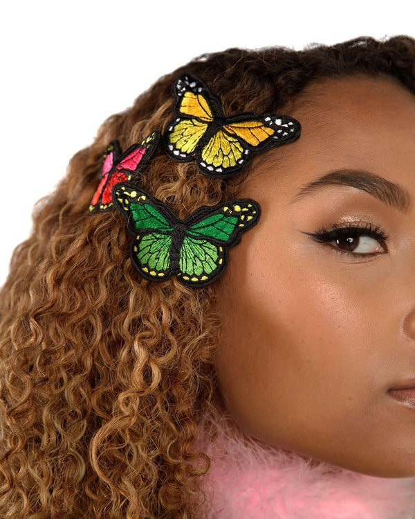 Butterfly Bobby Pins-Model