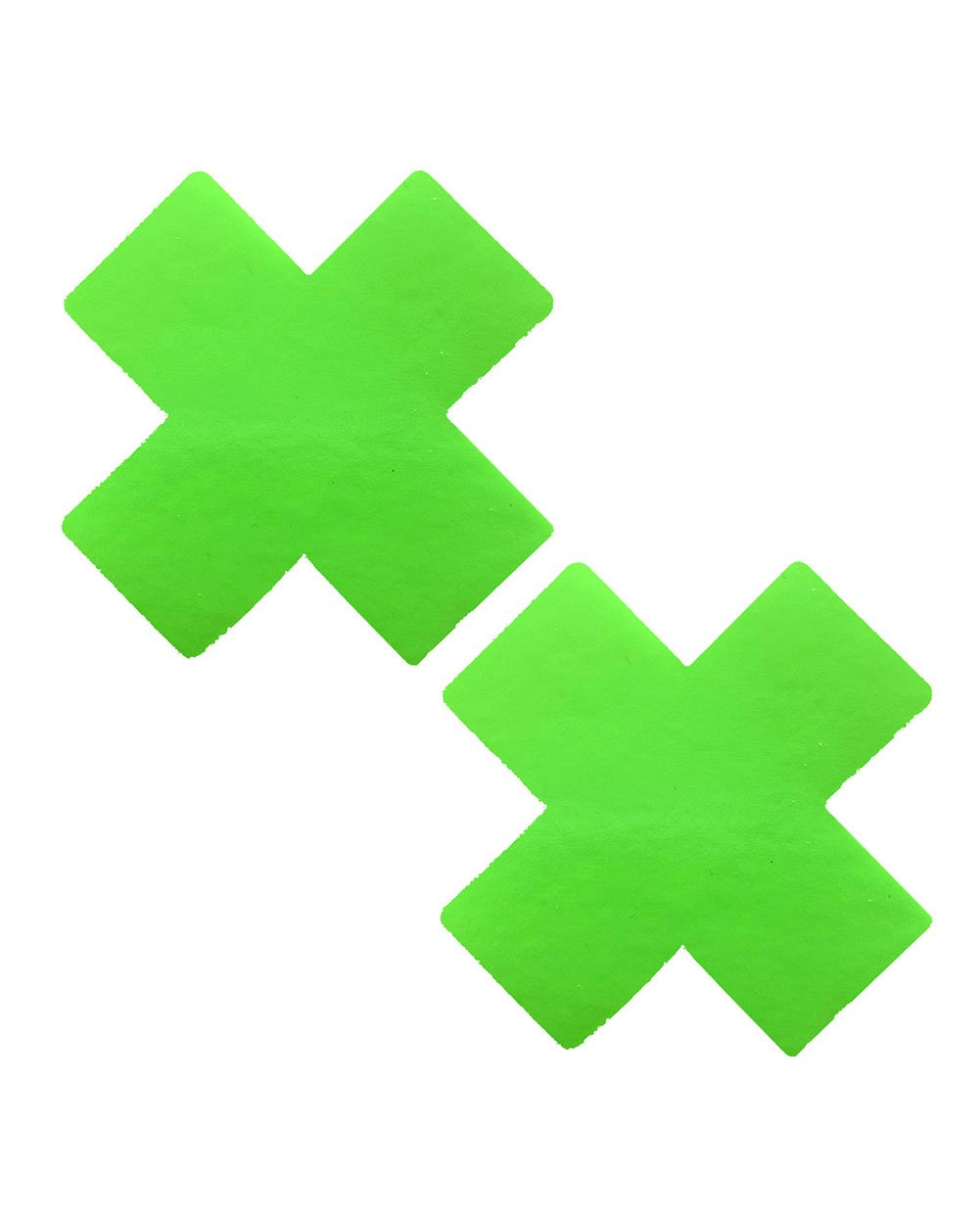 Neva Nude Neon Cross Pasties-Green