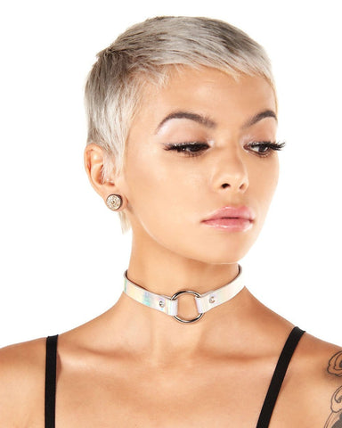 Hazy Holographic Ring Choker