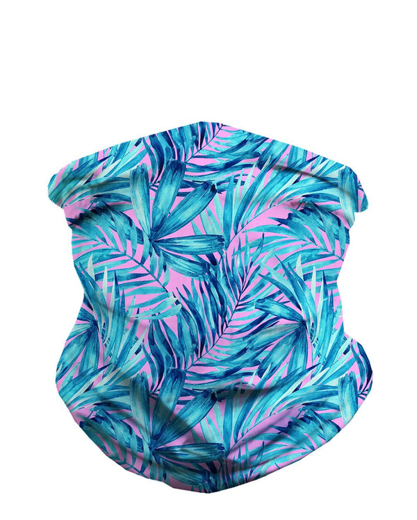 Aquatic Jungle Seamless Mask Bandana-Front