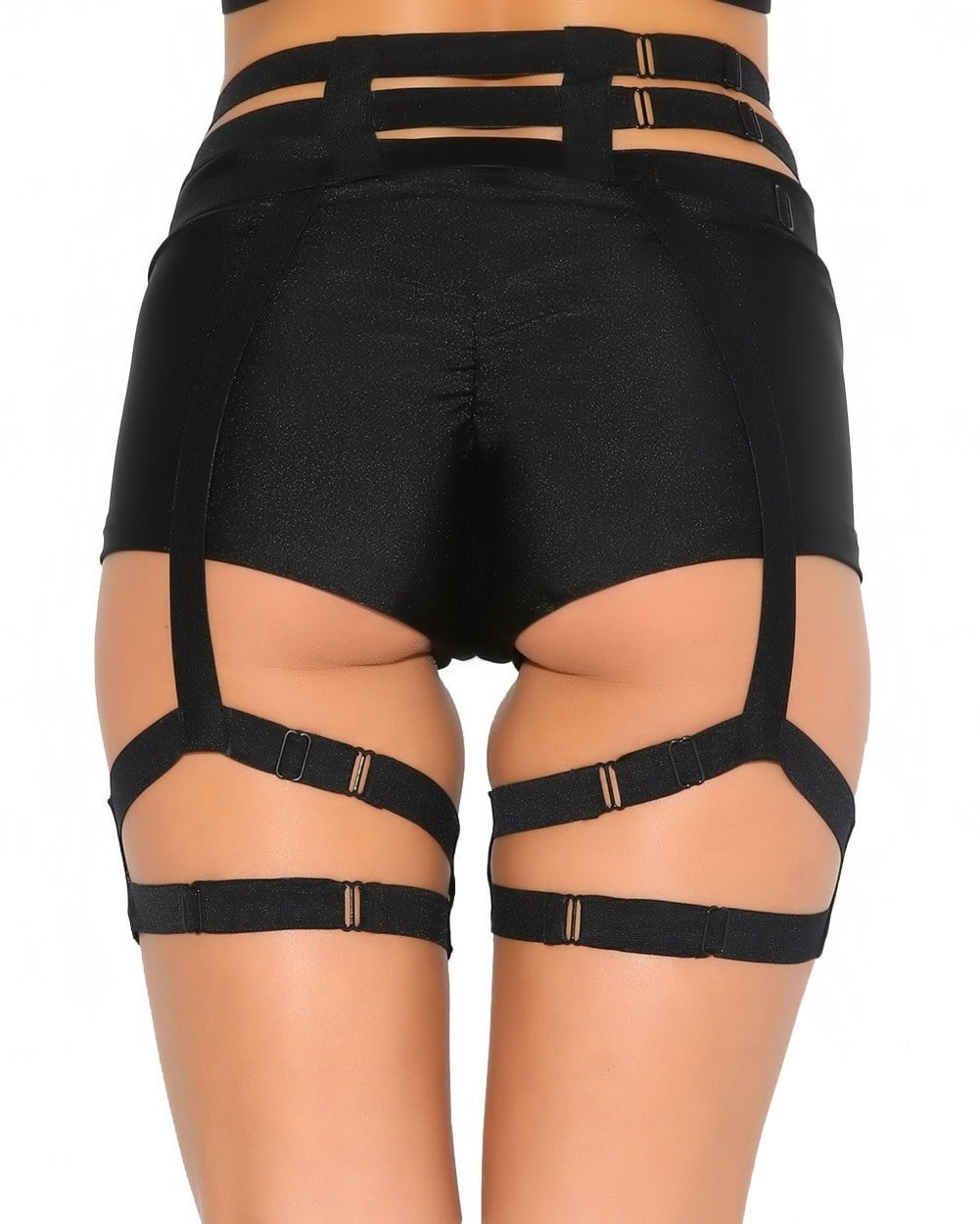 Studded Garter Belt Harness-back