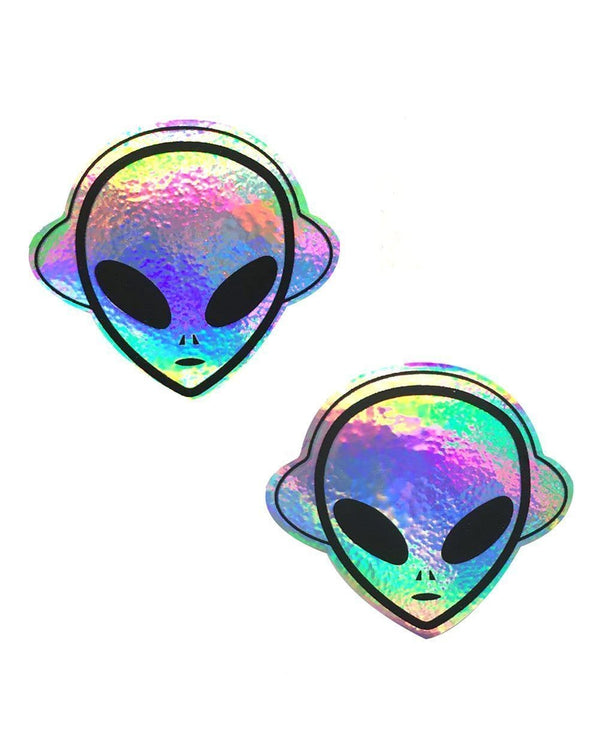 Neva Nude Kanye The Alien Super Holographic Pasties-Hologram
