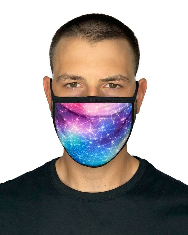 Constellations Face Mask-Male-Front