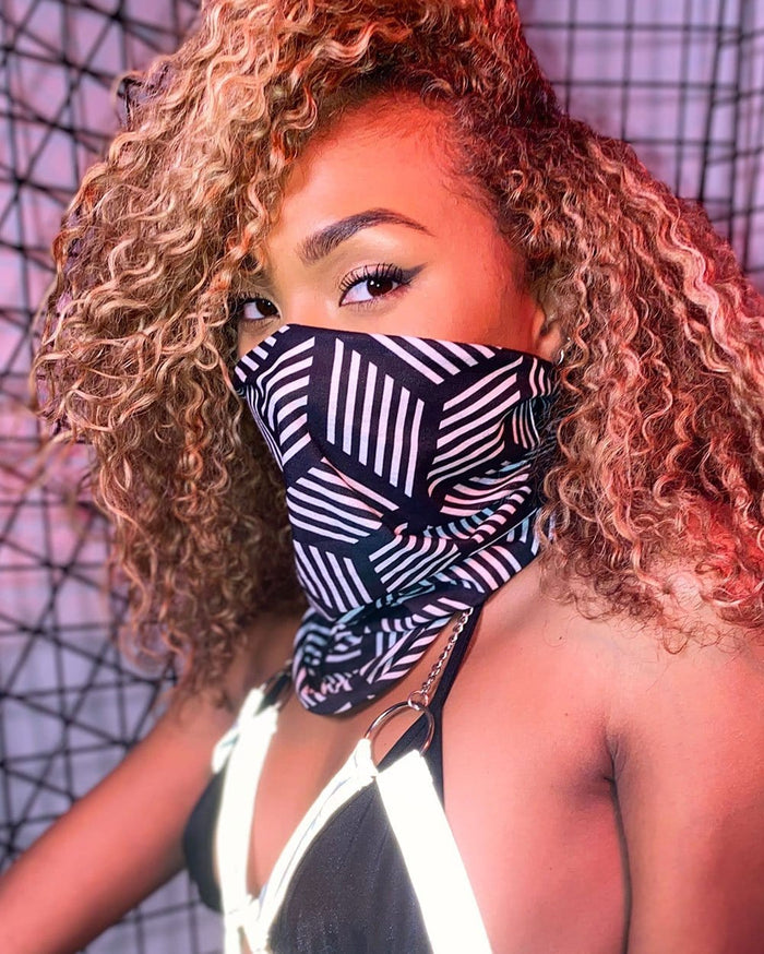 Cubed Illusions Seamless Bandana-Lifestyle