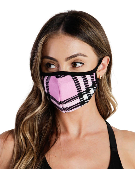 Like Totally Y2K Filtered Face Mask-Black/Pink-Front