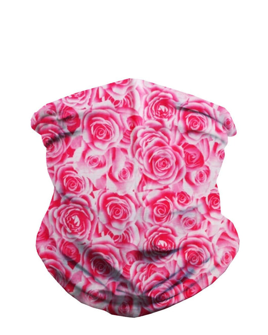 Field Of Roses Seamless Bandana - Pink-Front
