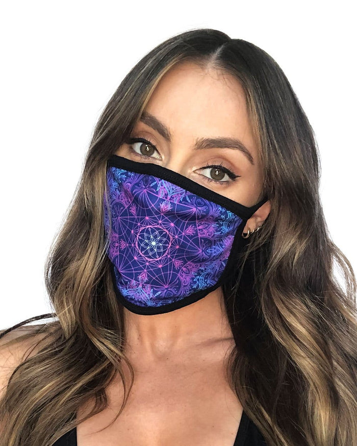 Flower of Life Face Mask-Female-Front
