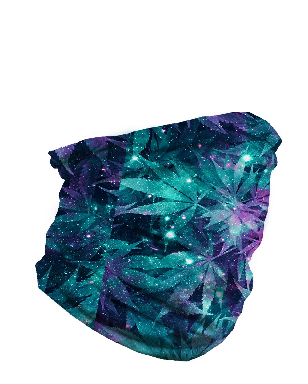 Ganja Galaxy Seamless Mask Bandana, Rave Bandana for Festivals-side