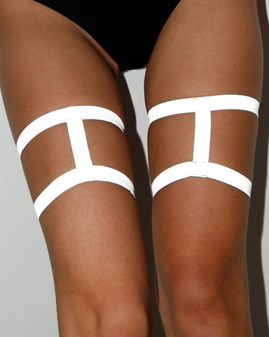Harness Leg Garters - Reflective