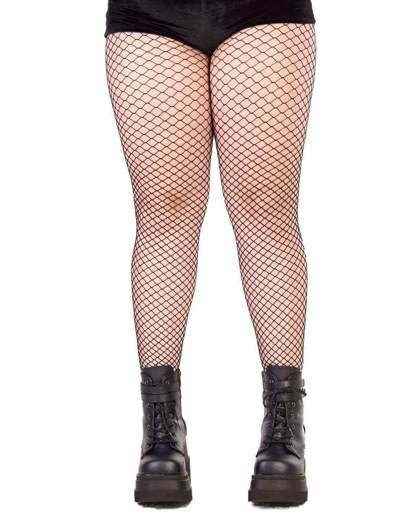 55757634f Plus Size Industrial Net Tights - iHeartRaves