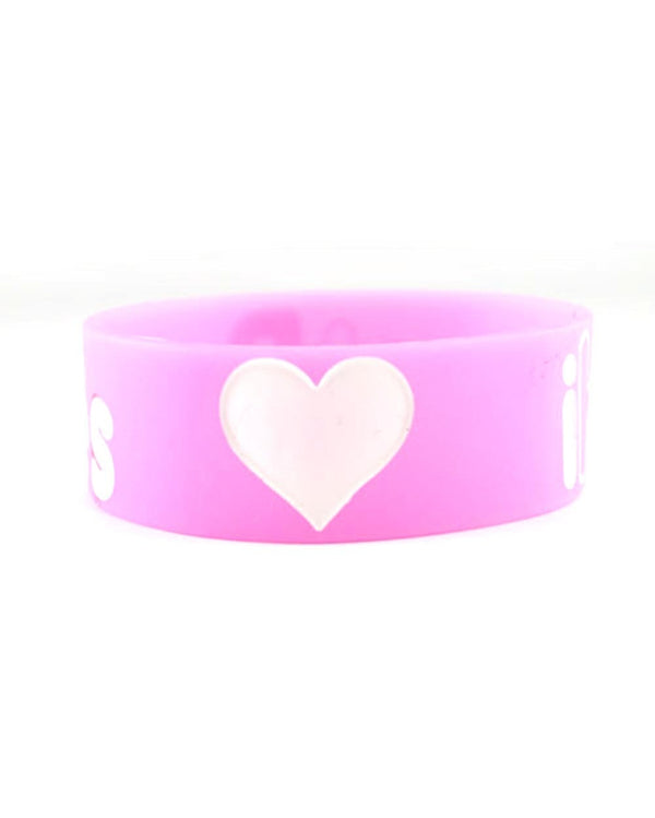 iHeartRaves Wristband-Pink