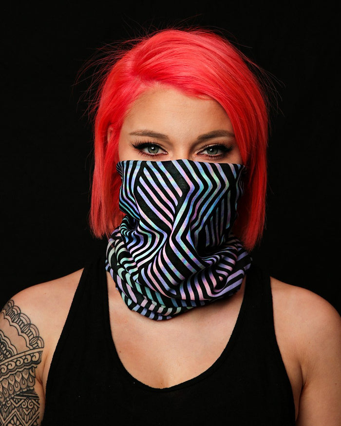 I Used to Sleep Seamless Mask Bandana - Model - Front