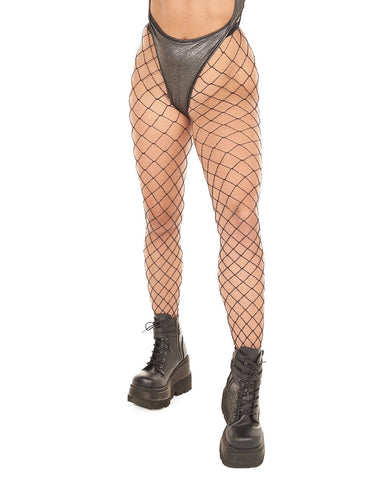 Industrial Net Tights - Black w/ Silver