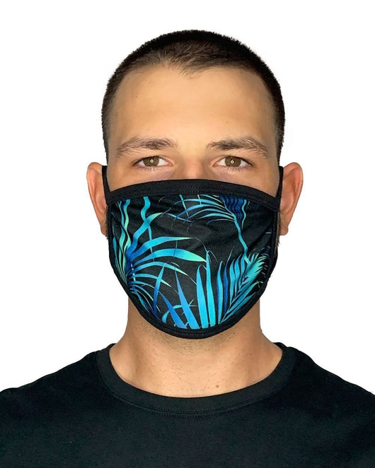 Midnight Jungle Face Mask-Male-Front