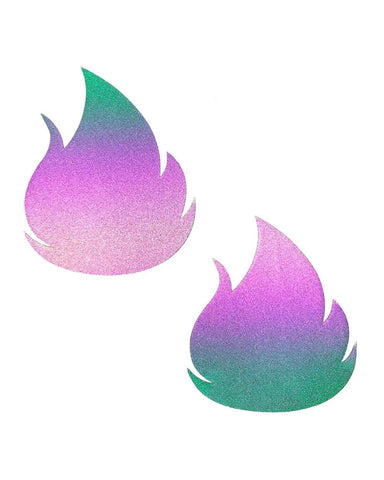 Neva Nude Flash Flame Reflective Pasties-Reflect