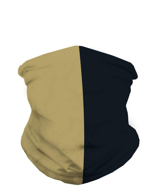 Old Gold and Black Mask Bandana-Front