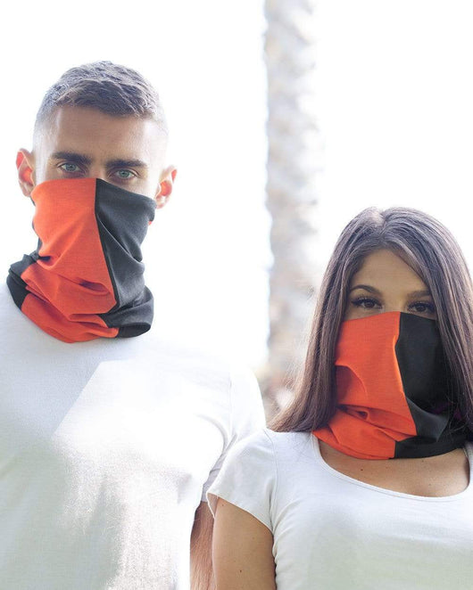 Orange and Black Mask Bandana-Lifestyle