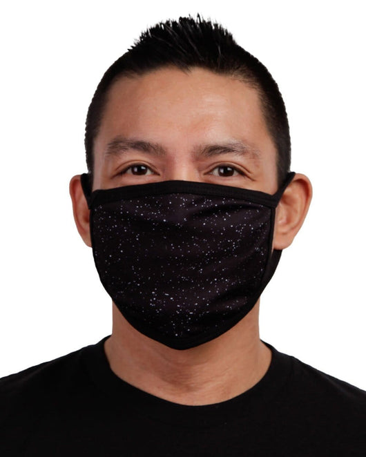 Paint Splatter Face Mask - Black-Front
