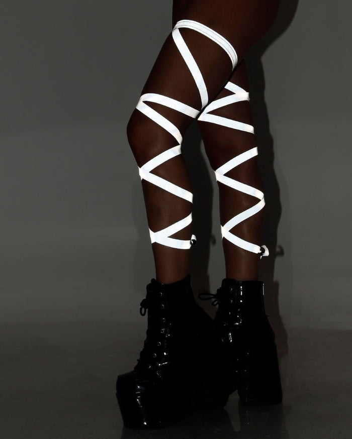 Pair of Non-Slip Reflective Leg Wraps-Reflect