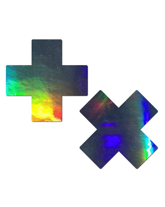 Pastease Hologram Cross Pasties
