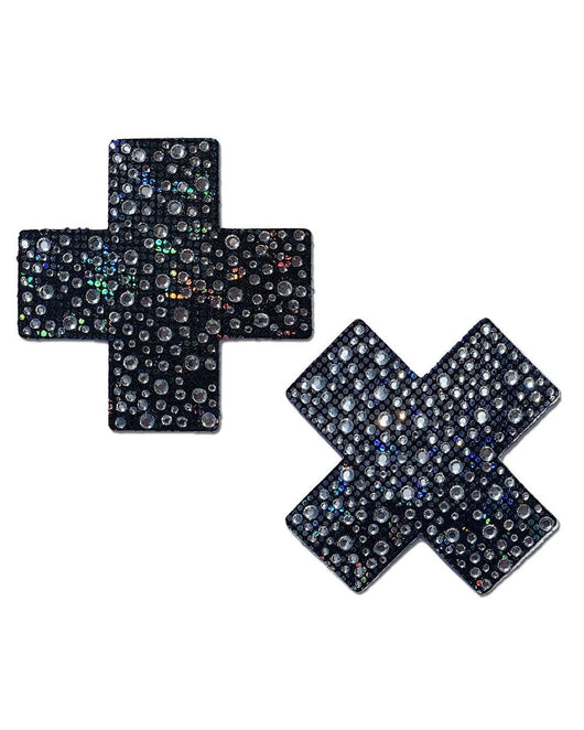 Pastease Midnight Skies Crystal Cross Pasties