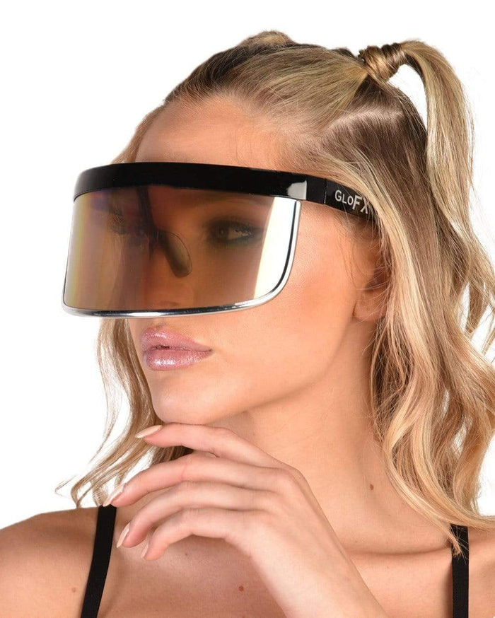 Rainbow Diffraction Holo Visor Glasses