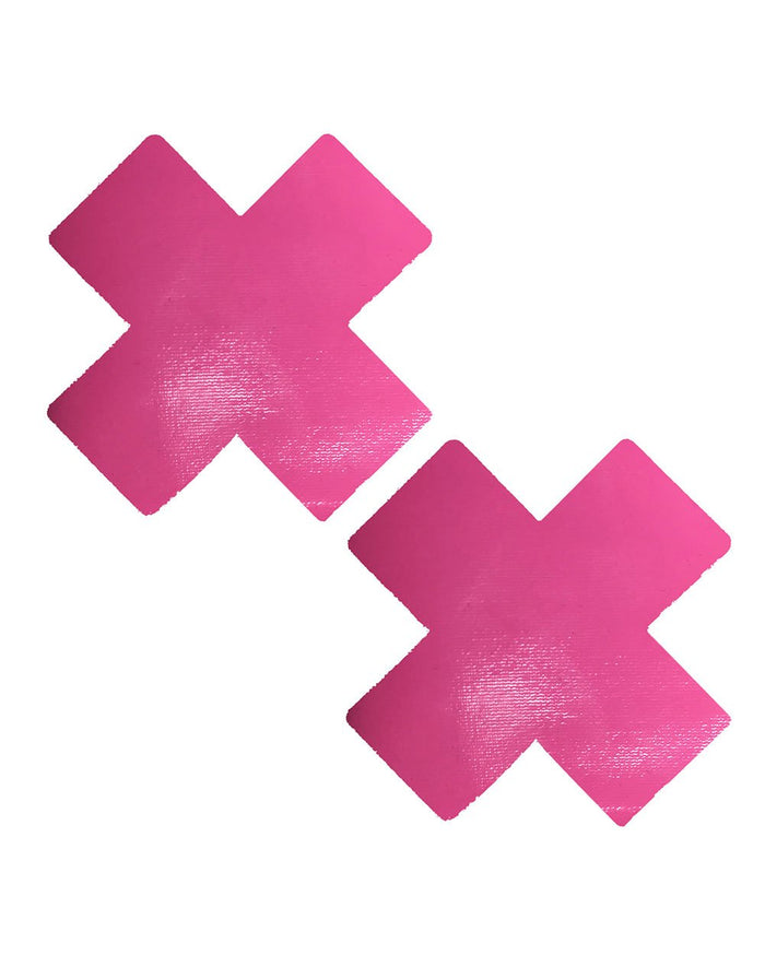Neva Nude Neon Cross Pasties-Pink