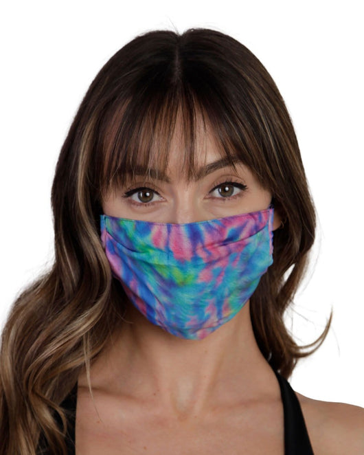 Spiral Tie Dye Face Mask-Front