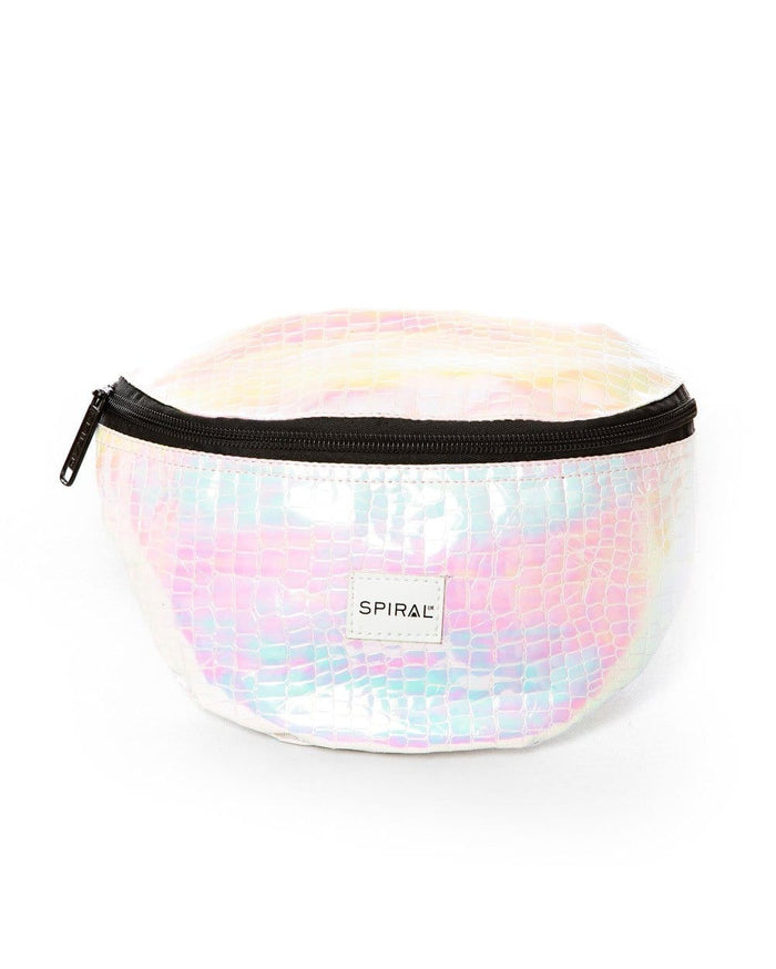 Textured Iridescent Holographic - Bum Bag - front