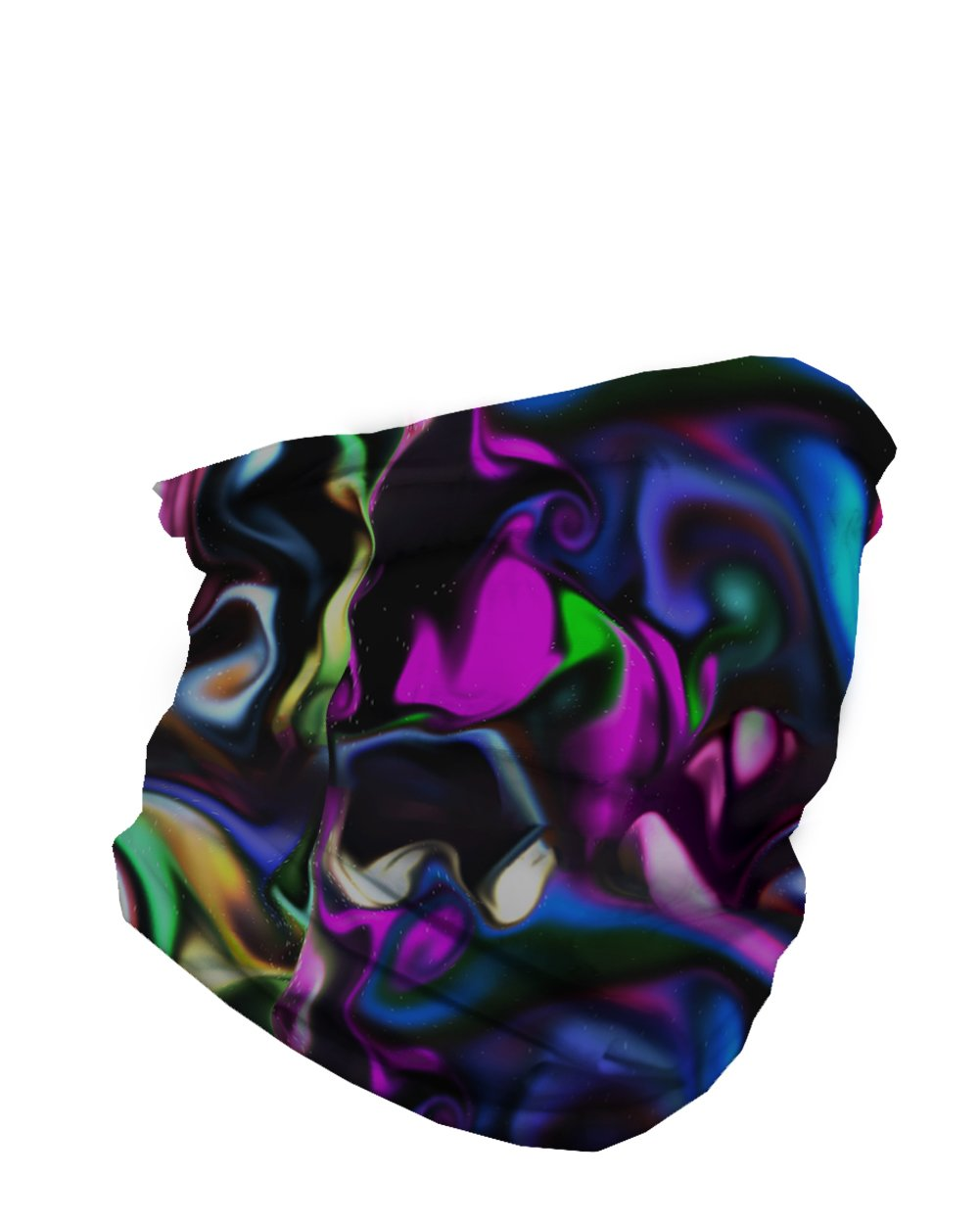 Trippy Paint Party Seamless Mask Bandana-Side