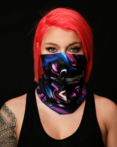 Trippy Paint Party Seamless Mask Bandana-Lifestyle