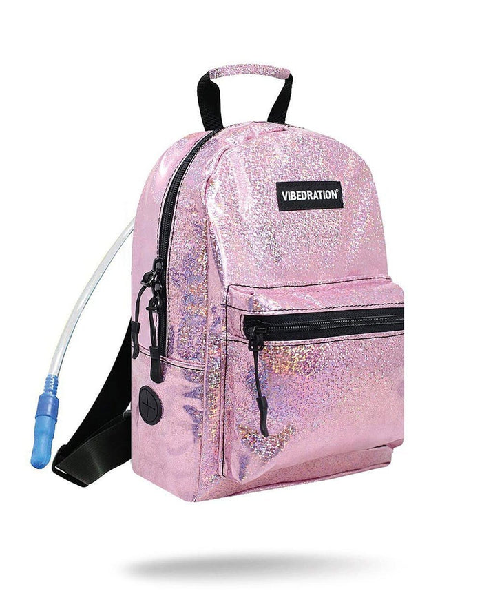 Vibedration Light Pink Sparkles Mini Hydration Pack