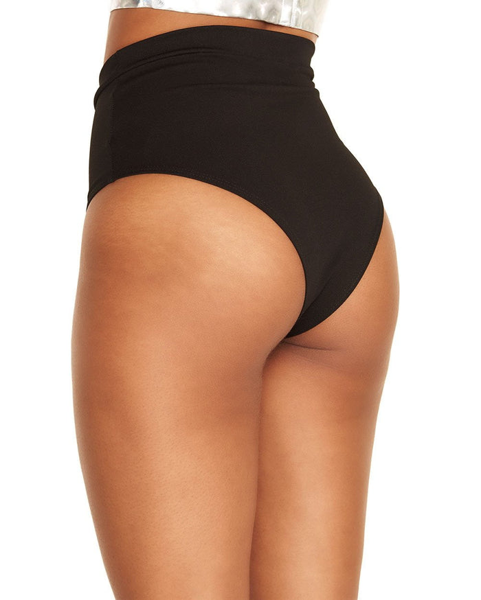Ultra Hi Rise Booty Shorts-Black-Side--Shizen---S