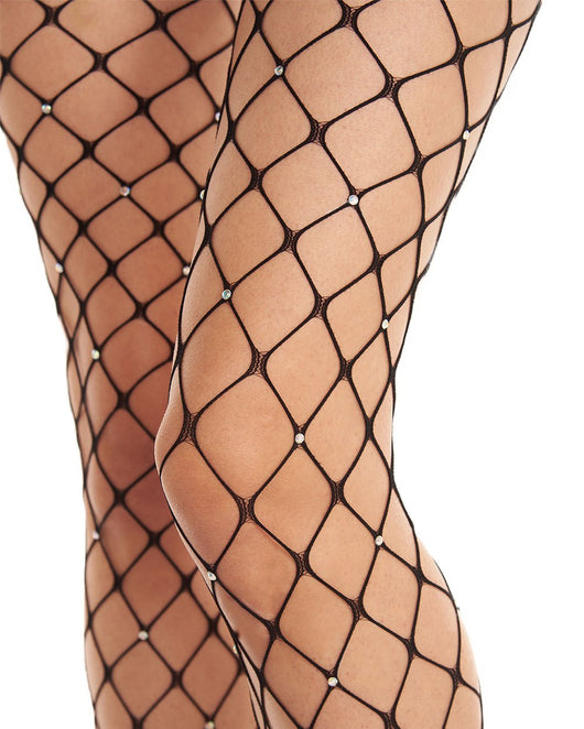 Crystalized Fence Net Tights-Detail