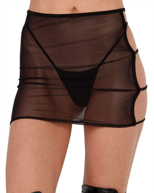 Bad Lil Bish Cut Out Mini Skirt-Front